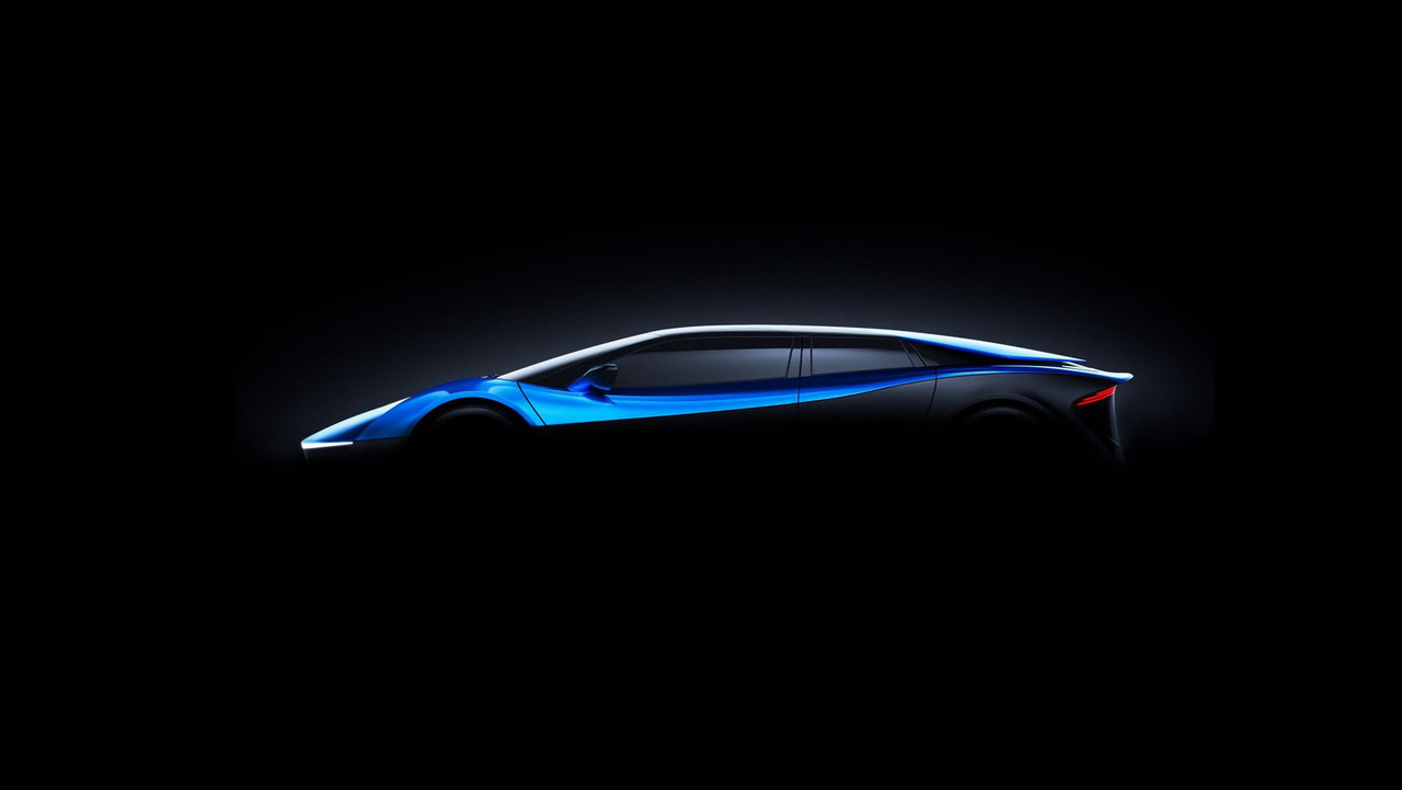 Elextra electric supercar teaser image