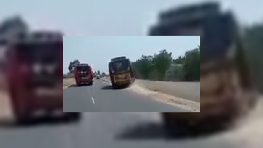 Watch These Bus Drivers Terrorize Passengers With Reckless Race