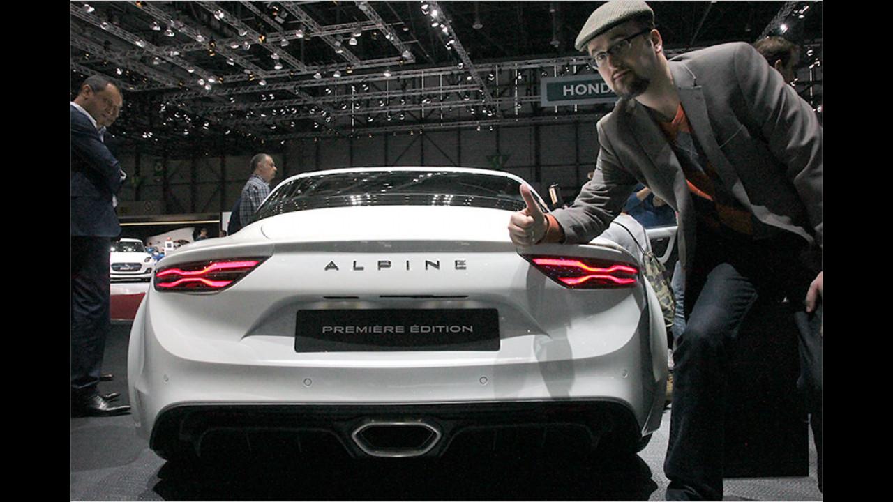 Genf 2017: Sitzprobe in der neuen Alpine A110
