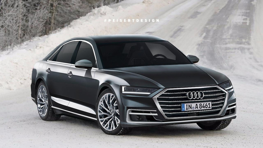 2018 Audi A8 Rendering Previews This Year's All-New Model