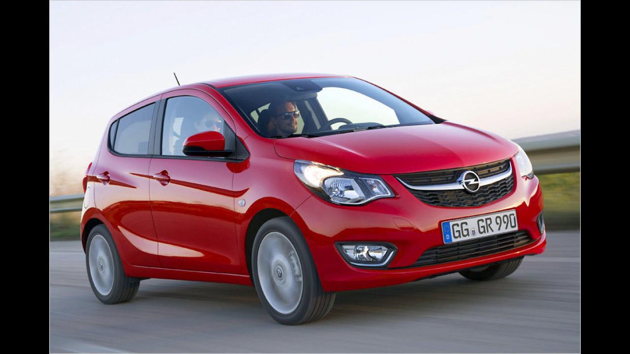 Opel Karl 1.0, 75 PS: 9.500 Euro
