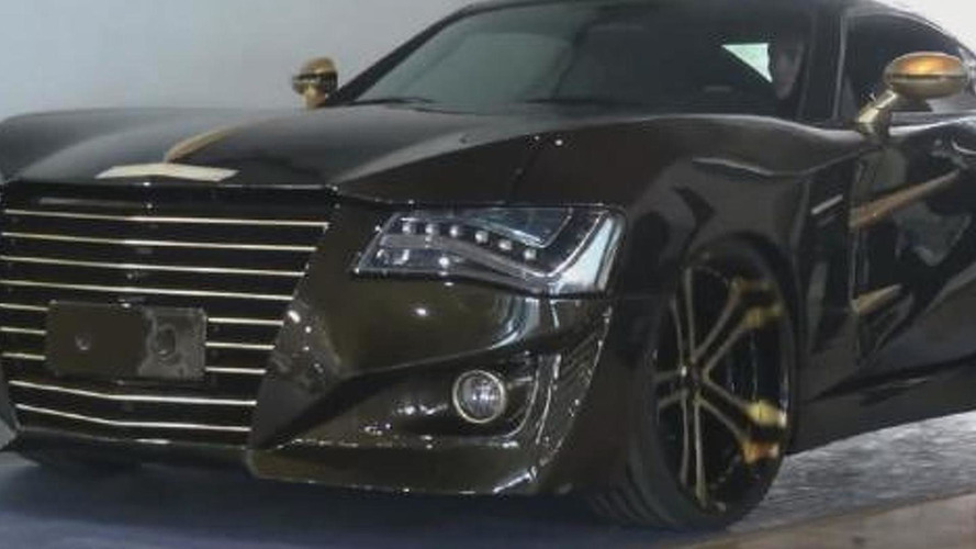 Modified Chrysler Crossfire has Audi A8 headlights, AMG engine and carbon fiber body [video]