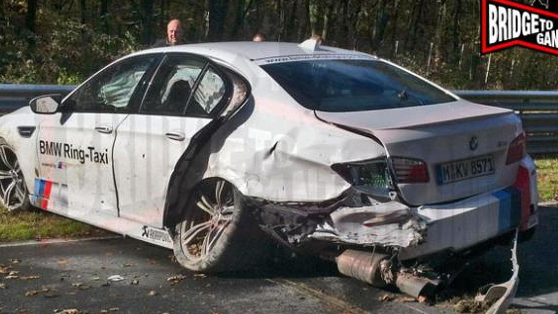 BMW M5 Ring Taxi crashes at work | Motor1 com Photos