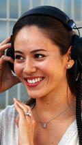 Jessica Michibata wearing her engagement ring  Formula One Testing Bahrain