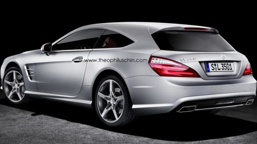 Mercedes SL Shooting Brake gets rendered, should it be built?