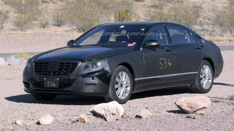 Mercedes S-Class Spied hot weather testing