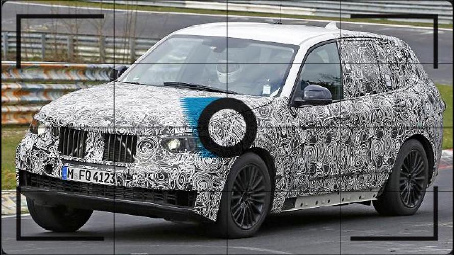 Nuova BMW X5, foto spia al Nurburgring