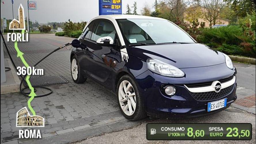 """Opel Adam GPL Tech, la prova dei consumi """"reali"""""""