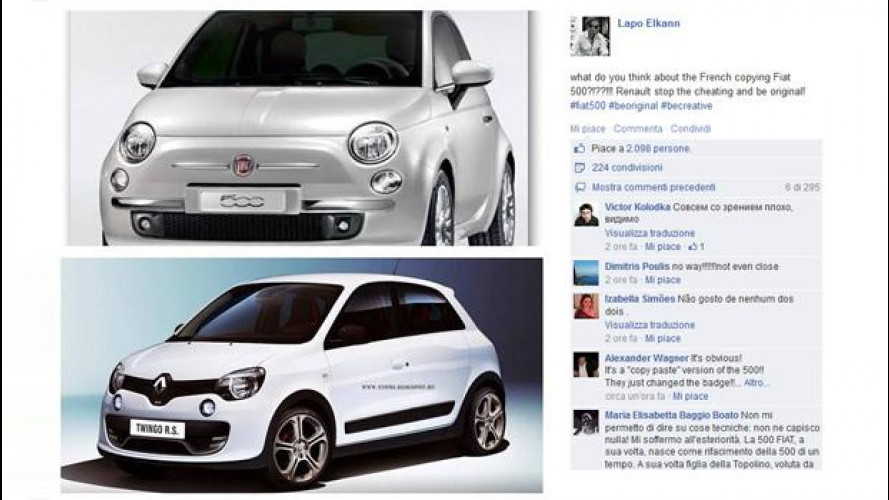 Lapo su Fiat 500 vs Renault Twingo: è polemica