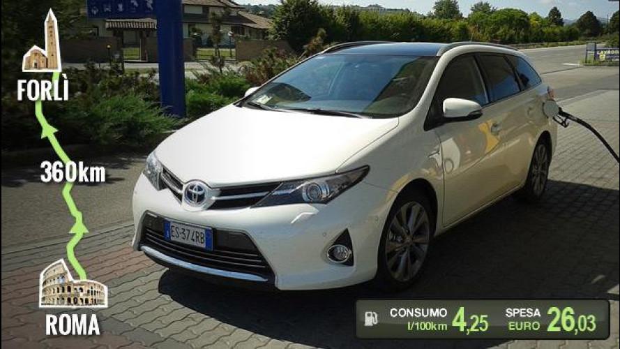 "Toyota Auris Hybrid Touring Sports, la prova dei consumi ""reali"""