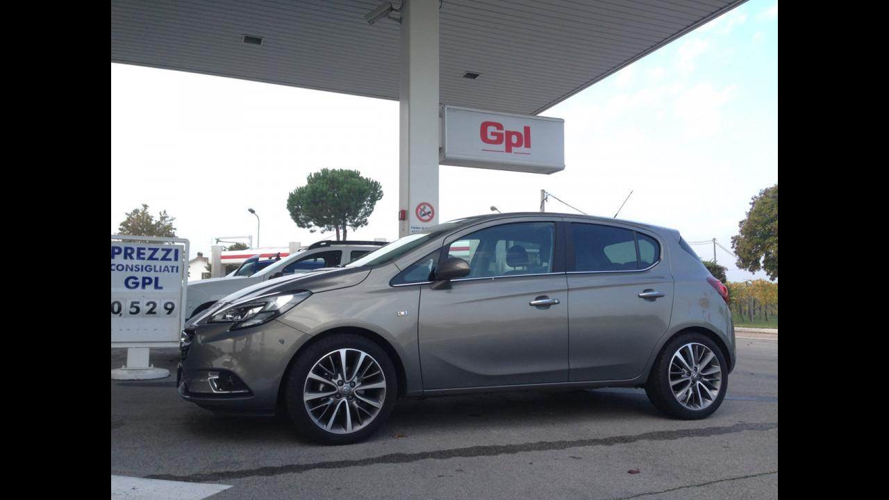 Opel Corsa GPL Tech, test di consumo reale Roma-Forlì