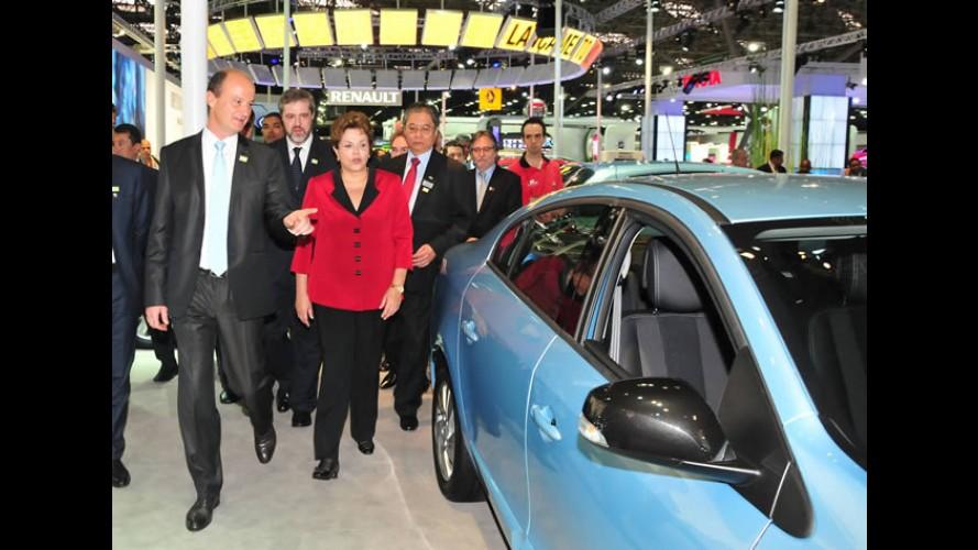 Presidente Dilma visita Salão do Automóvel e anuncia prorrogação da redução do IPI até 31 de dezembro