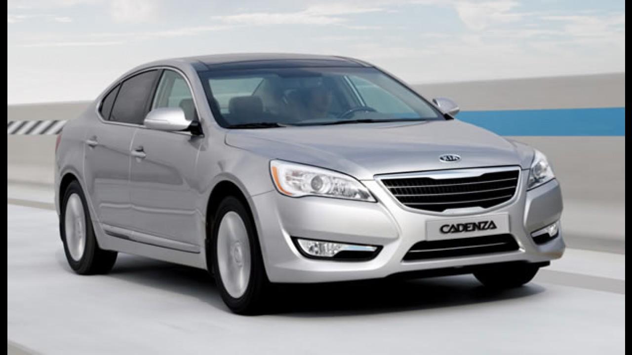 Novo Kia Cadenza chegará ao Chile até o final de abril por menos de R$ 60 mil