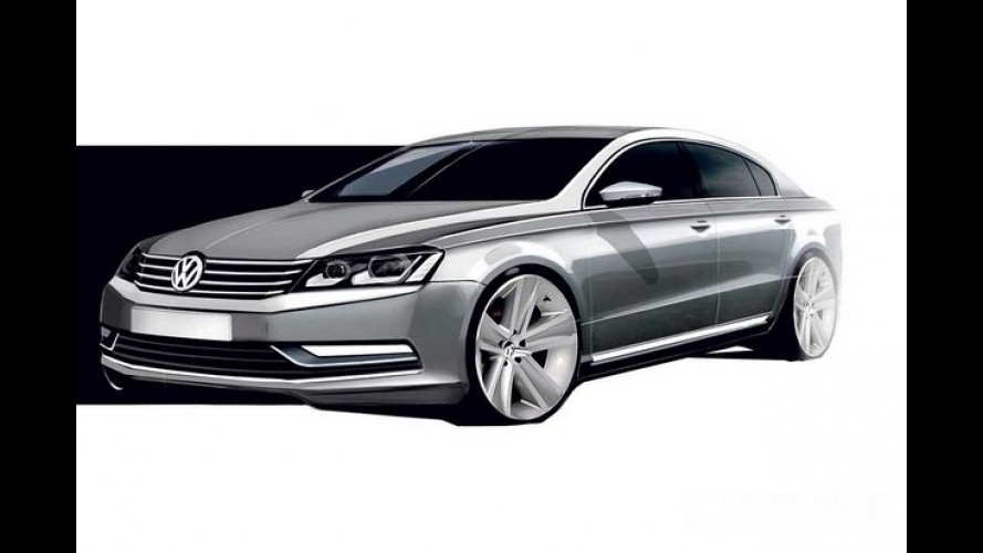 Volkswagen Passat: nova geração fará estreia em outubro no Salão de Paris