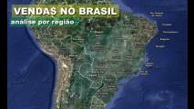 Brasil, janeiro de 2011: Veja os modelos mais vendidos em cada região