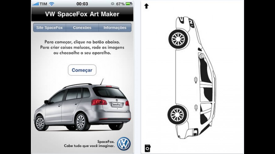 VW lança aplicativo esquisito da SpaceFox para iPhone