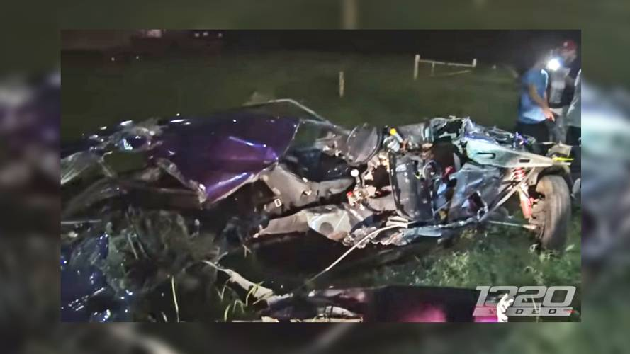 Ford Mustang Ripped In Half During Crazy Street Race Crash