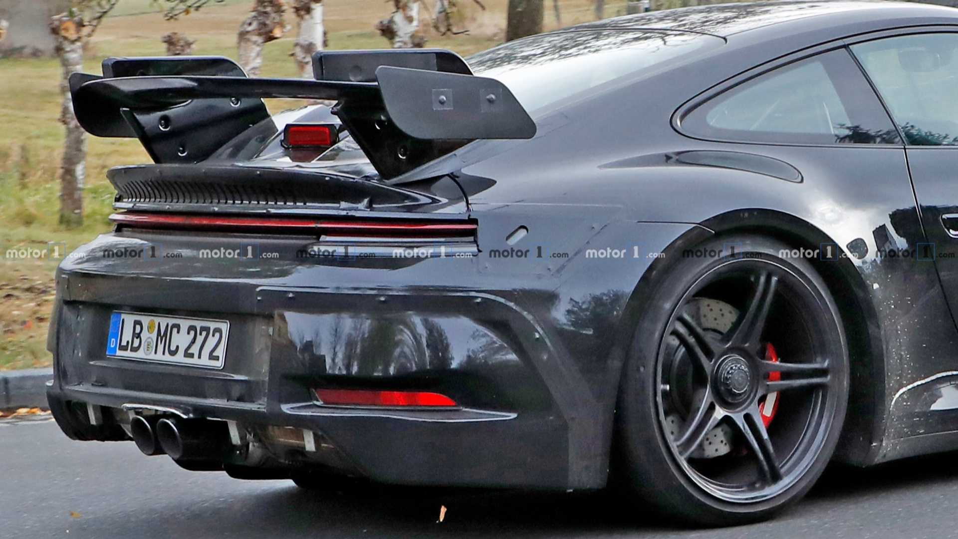 New Porsche 911 Gt3 Caught From Behind In The Evening