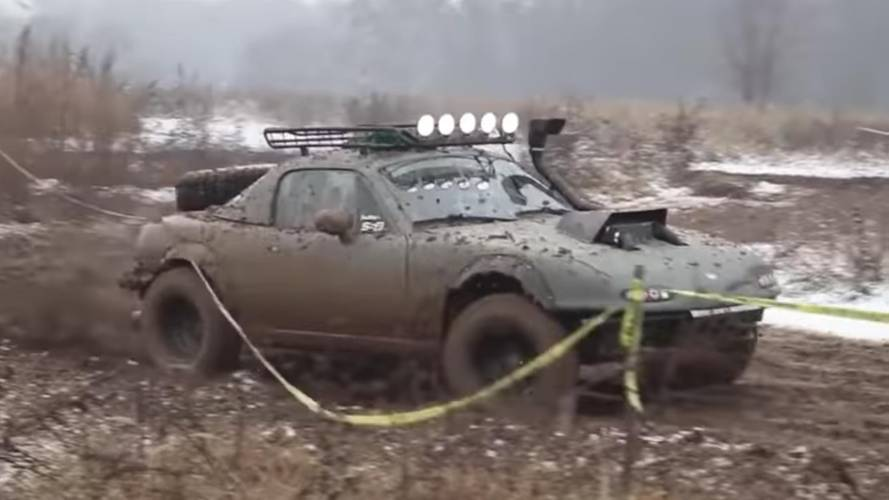 Watch a Mazda MX-5 turn into a lifted off-road powerhouse