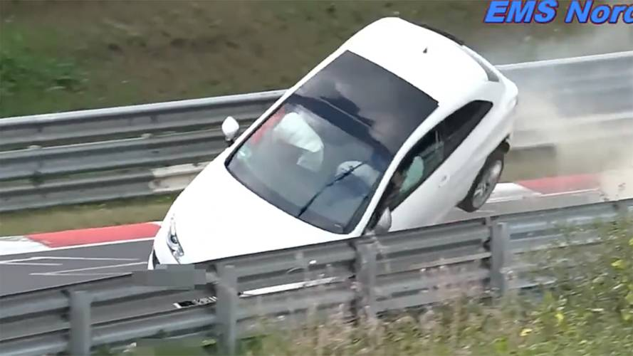 Seat Ibiza nearly goes airborne in brutal Nürburgring crash
