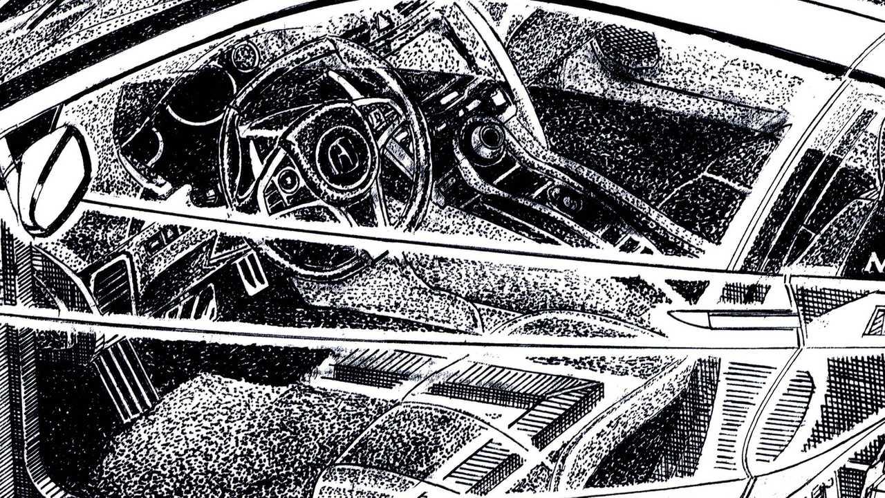 Acura NSX Cutaway Sketch