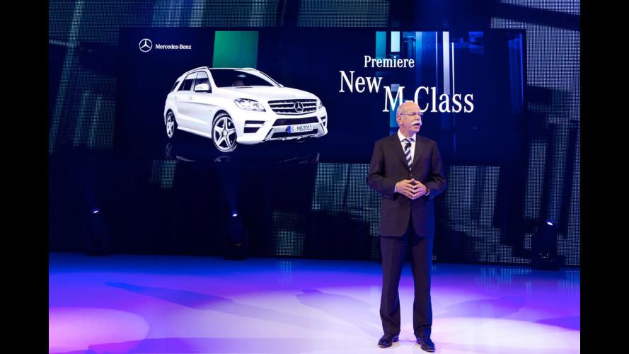 La nuova Mercedes Classe M vista dal vivo