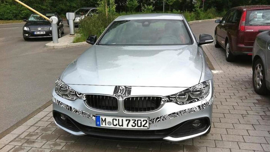 BMW 4-Series Coupe spied up close wearing minimal camo