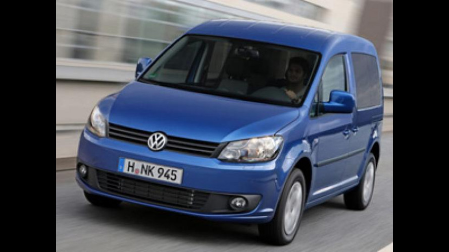 Volkswagen Caddy BlueMotion, bastano 4,5 litri per fare 100 chilometri