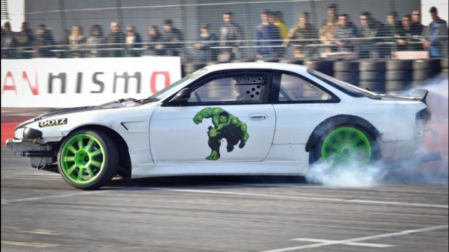 Drifting adrenalinico al Motor Show 2014