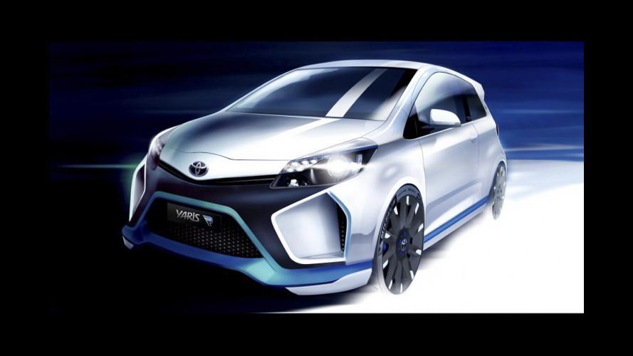 Toyota Yaris Hybrid-R Concept, la prima immagine