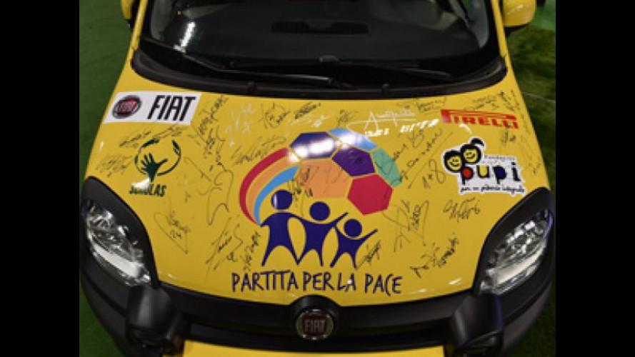 La Fiat Panda Cross firmata da Maradona, Buffon e Baggio è in vendita a 9.250 euro