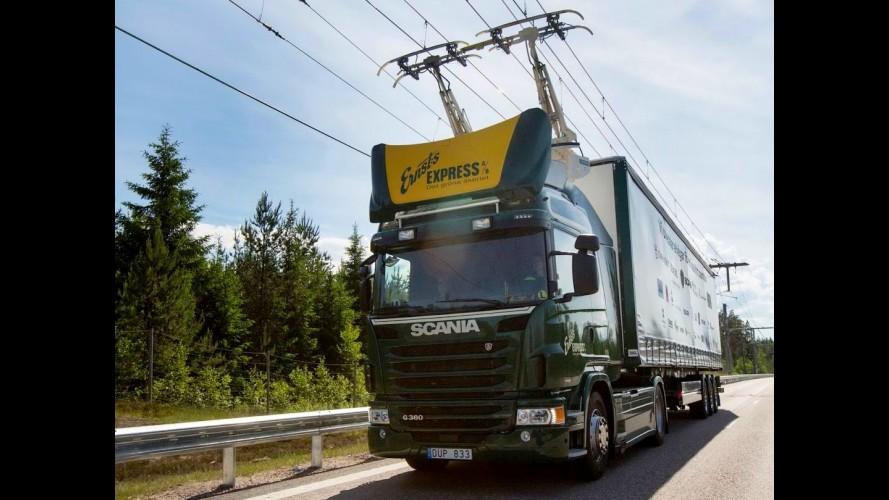 """Primeira """"estrada elétrica"""" do mundo começa a funcionar na Suécia"""