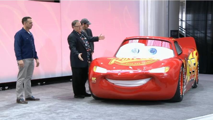 Lightning McQueen arrives in Detroit as functional life-size model