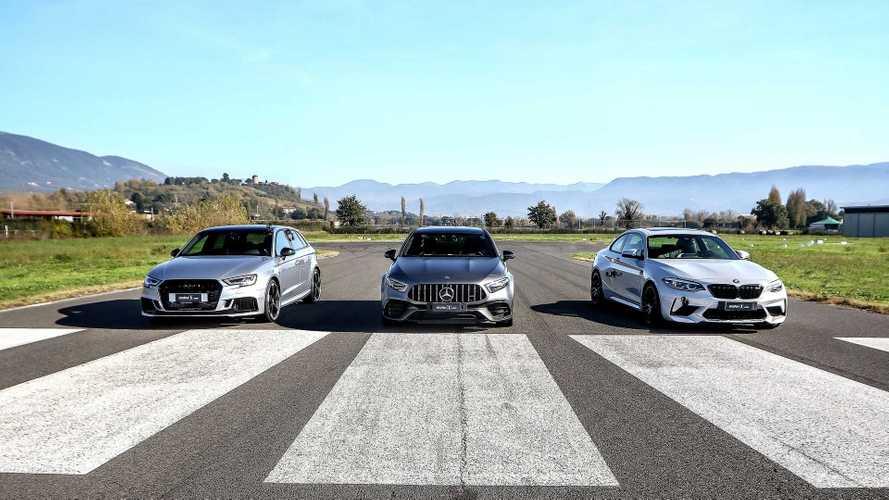 Эксклюзив: первая гонка хэтча Mercedes-AMG и его конкурентов