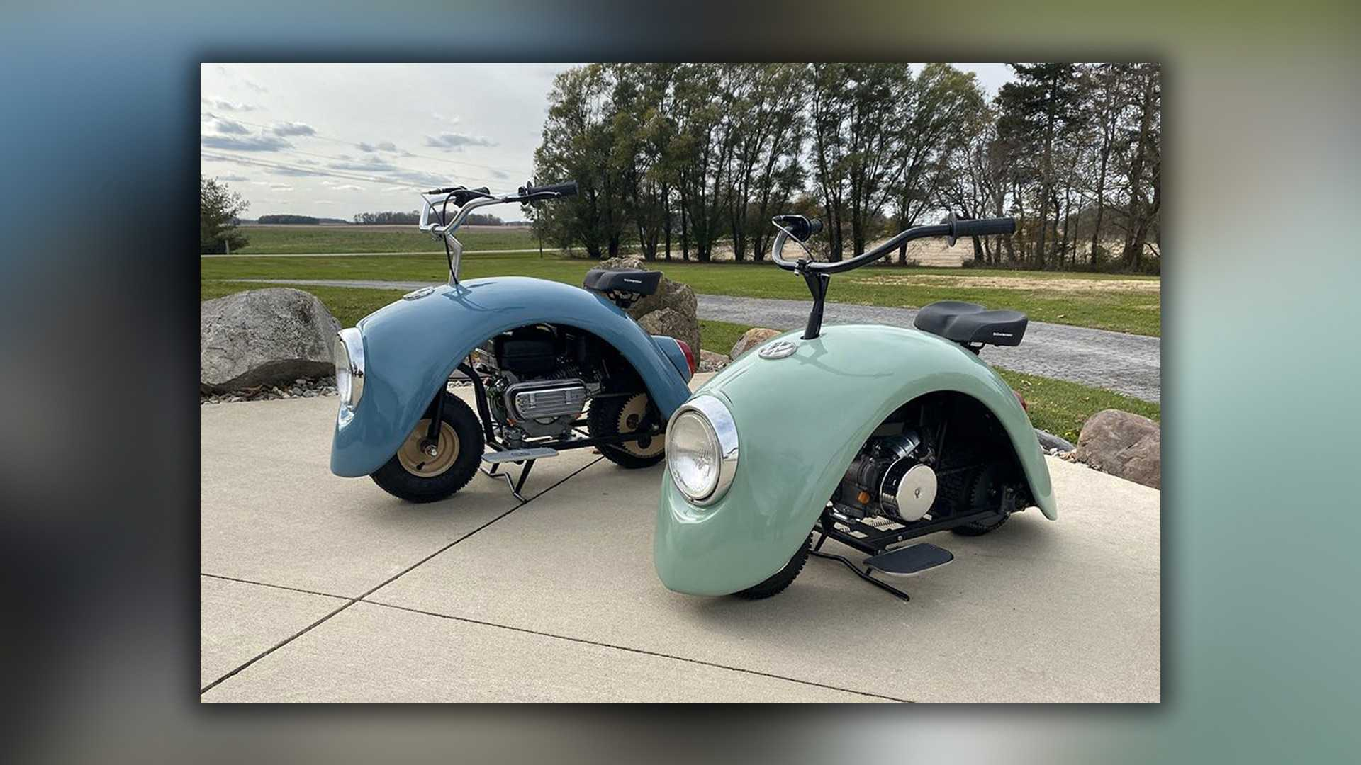 Volkspods: Mini-Bikes mit VW-Käfer-Kotflügel-Karosserie