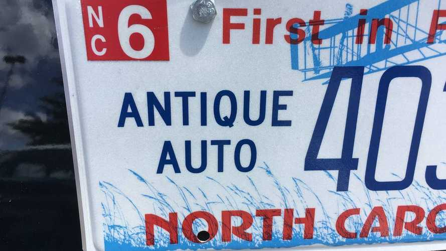 Vehicle Age Has Dropped To Obtain An Antique Plate In North Carolina