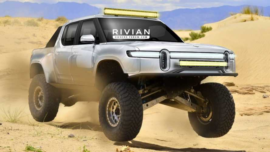Rivian R1T Race Truck Rendered To Tackle The Baja 1000