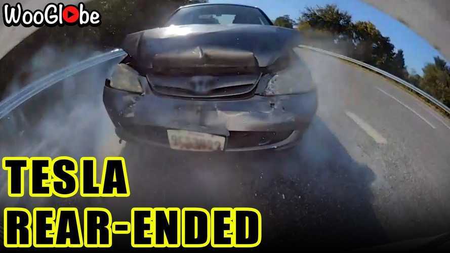 Watch Tesla Model 3 Get Forcefully Rear-Ended By Honda Civic