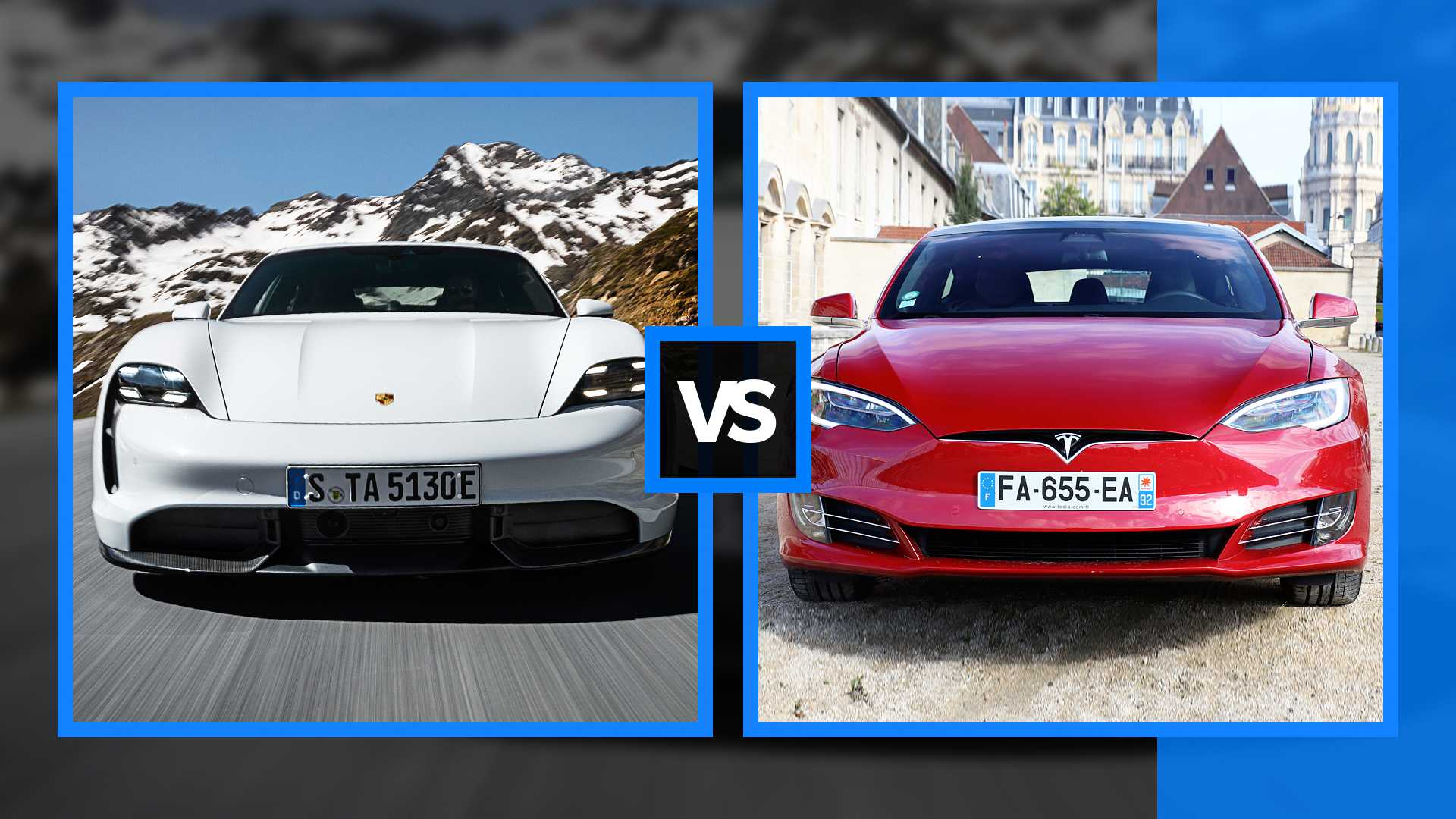 Car And Driver Pits Porsche Taycan Turbo S Vs Tesla Model S Raven