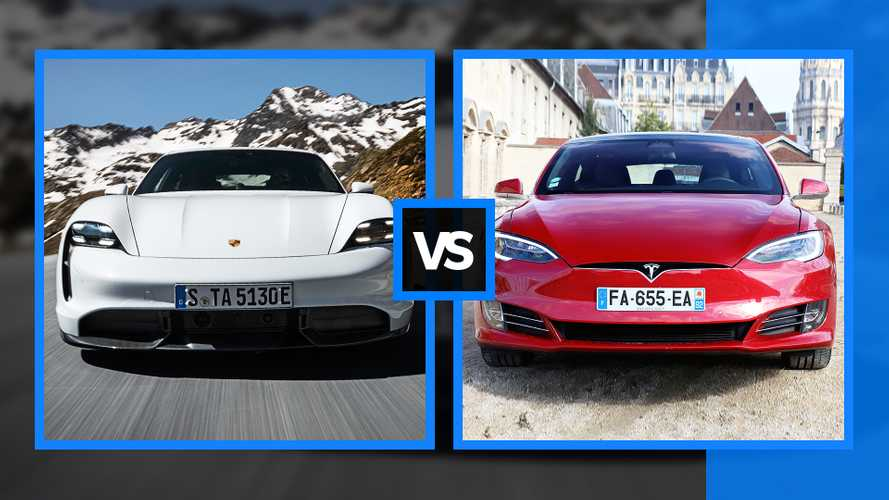 Porsche Taycan vs Tesla Model S, super berline elettriche a confronto