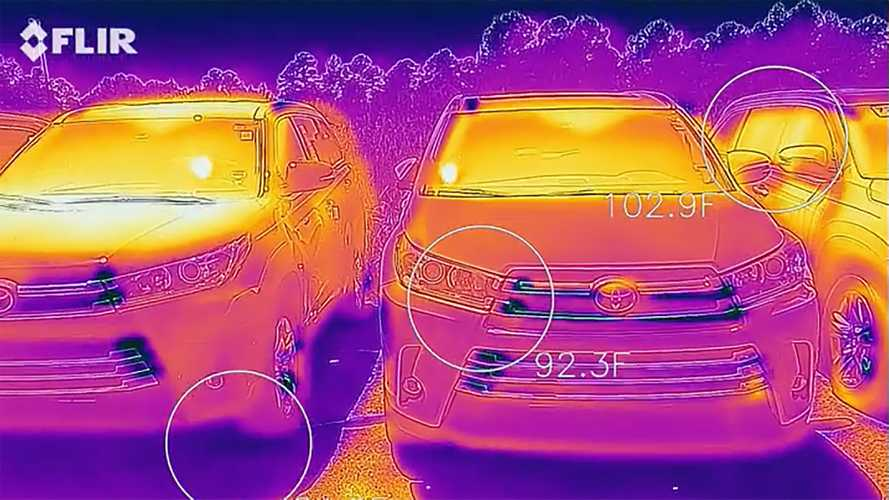 Thermal Video Showing How Hot Black Cars Get Will Surprise You