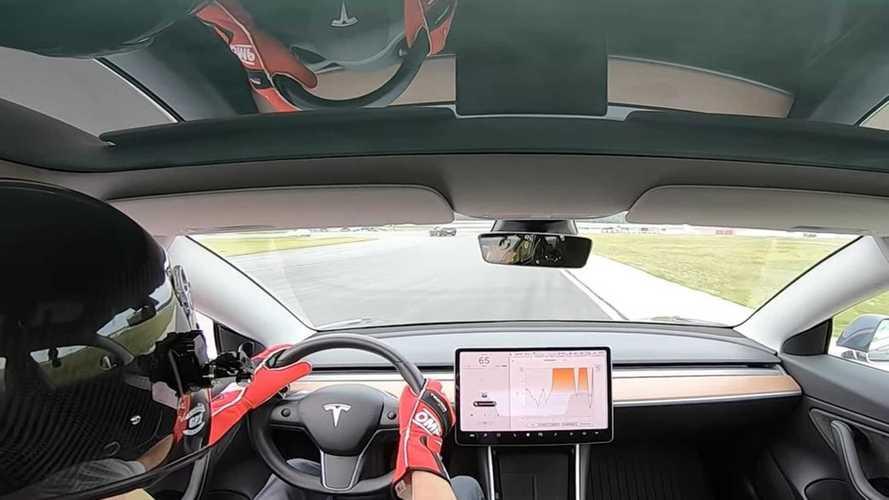 Tesla Model 3 Performance Blows By Corvette At Pokono Raceway