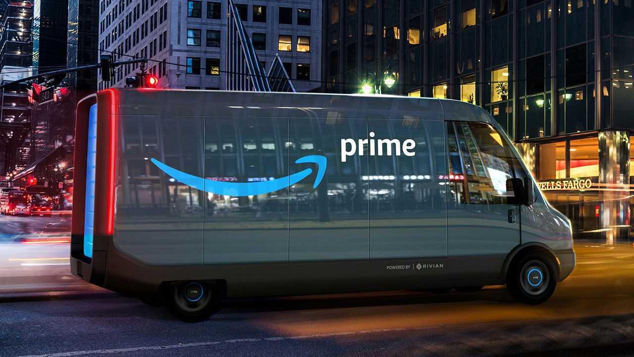 Il furgone Amazon prodotto da Rivian