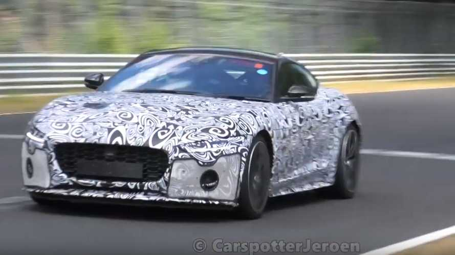 Updated Jaguar F-Type 2.0-litre turbo spied at the Nürburgring