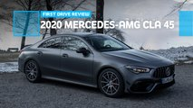 2020 mercedes amg cla 45 first drive