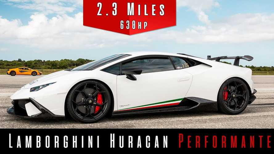 Watch Supercharged Lamborghini Huracan Performante Hit 210 MPH