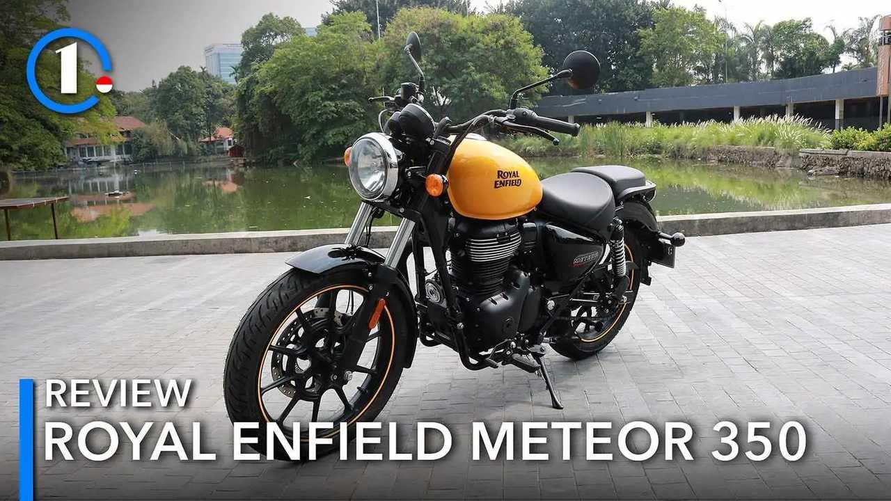 Royal Enfield Meteor 350 di Senayan Park.