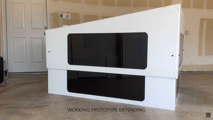 CyberLandr Truck Camper Prototype For Tesla Cybertruck Revealed