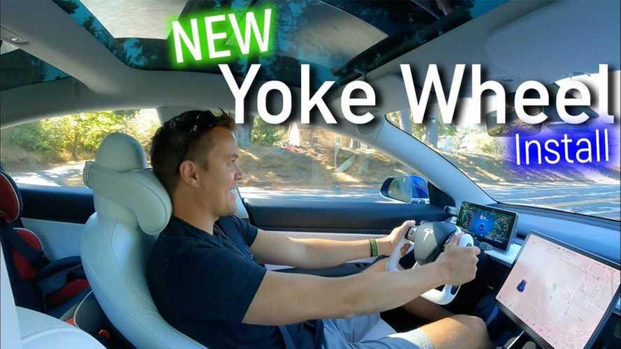 YouTuber Puts Yoke Wheel In Tesla Model 3