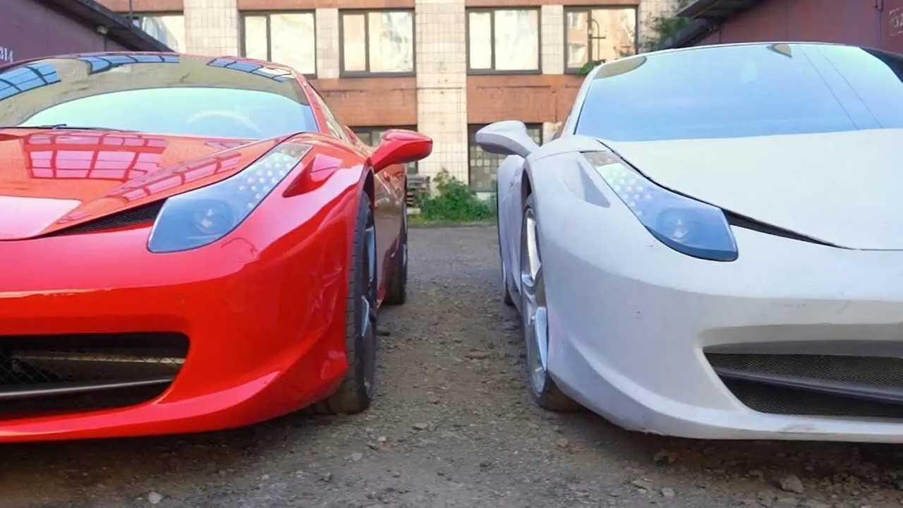 Ferrari 458 originale contro Replica